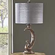 Shimmer Peacock Table Lamp