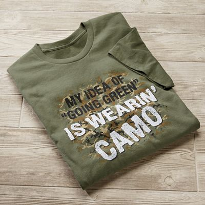 Going Green Is Camo Tee