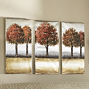 3-Piece Fall Trees Triptych Set