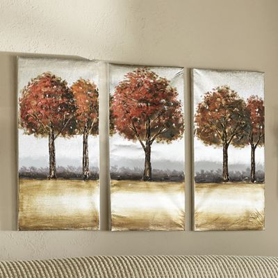 3-Piece Fall Trees Triptych Set
