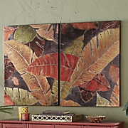 2-Piece Palm Leaves Art