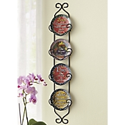 4-Piece Inspirational Plates with Rack Set