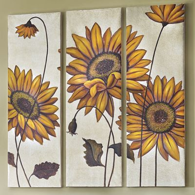 3-Piece Sunflower Print Set
