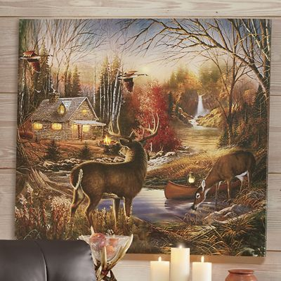 Lighted Woodland Canvas