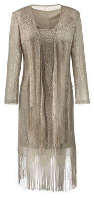 2-Piece Fringe Jacket and Dress