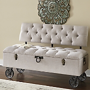 Bethany Tufted Trunk Storage Bench