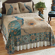majestic peacock coverlet