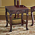 Regal Romantic Hand-Carved End Table