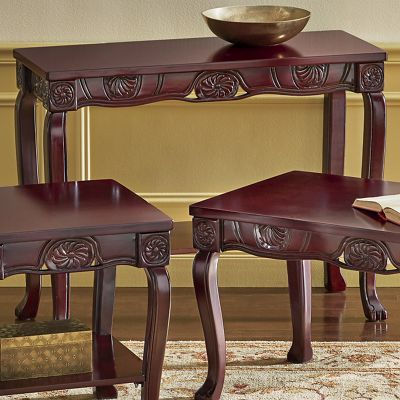 Regal Romantic Hand-Carved Sofa Table