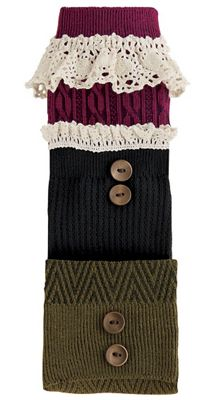 3-Pk. Boot Socks in Fall Colors