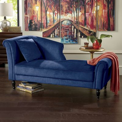 Half back chaise lounge from seventh avenue dw751372 for Chaise and a half lounge