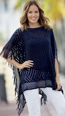 Adele Knit Poncho