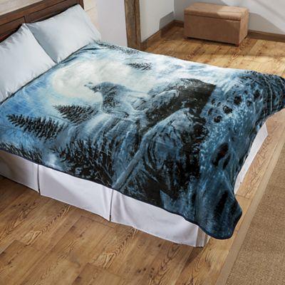 Wolf Plush Blanket