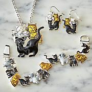 Cats Necklace/Earring/Bracelet Set