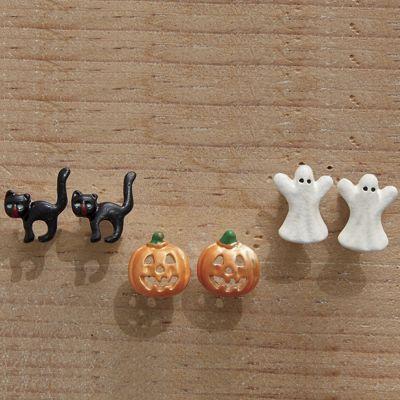 3-Pair Halloween Post Earring Set