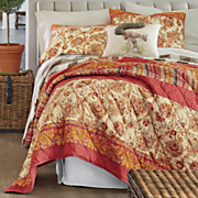 saffron oversized pieced quilt and sham