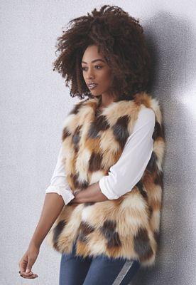 Gwen Faux-Fur Vest