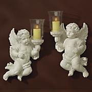 set of 2 cherub sconces 36