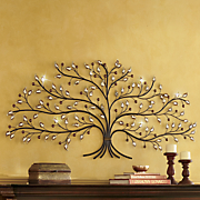 jeweled tree wall art