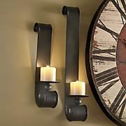 set of 2 scrolled candle sconces 79