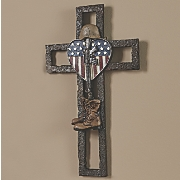 Fallen Soldier Memorial Wall Cross