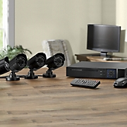 4 camera surveillance system with dvr and hard drives