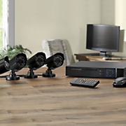 4-Camera Surveillance System with DVR and Hard Drives