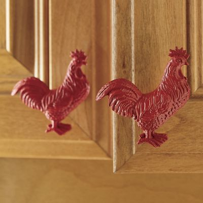 Attrayant Set Of 4 Rooster Cabinet Knobs