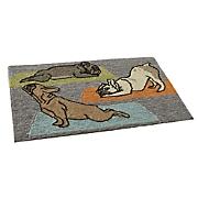 yoga dogs indoor outdoor mat   1 8  x 2  6