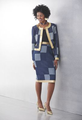 London Denim Jacket and Skirt