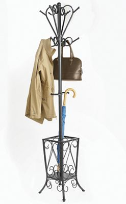 Scroll Coat Rack & Umbrella Stand