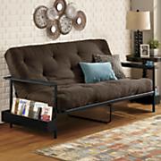 metal futon frame and double futon mattress by serta