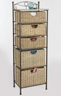 Scrollwork Basket Storage