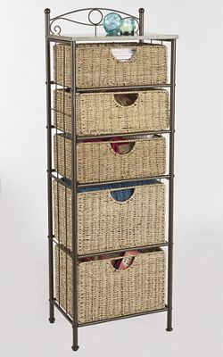 Scrollwork Tower Basket Storage