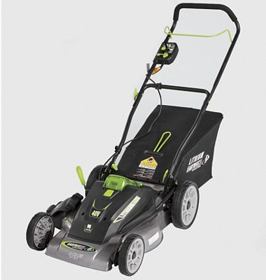"18"" Cordless Electric Mower by Earthwise"