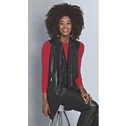 misha faux leather sleeveless jacket