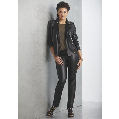 Mischa Faux-Leather Moto Jacket and Pant