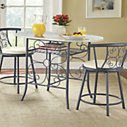 garrison scroll faux granite bistro set