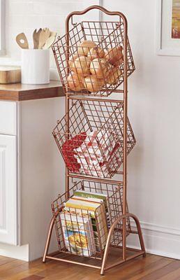Wire 3 Basket Stand