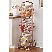 Wire 3 Basket Stand