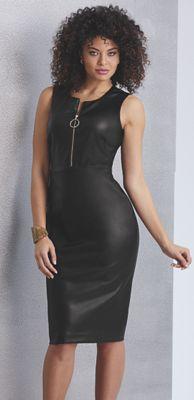 Misha Faux-Leather Dress