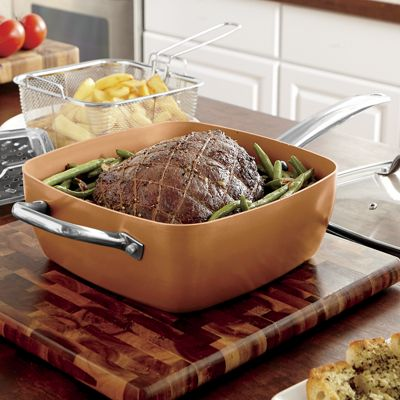 4-Piece Copper Pan Set