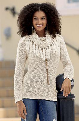 Samara Fringe Sweater