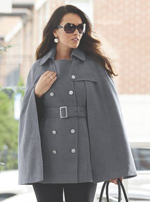 Capelet Trench Coat