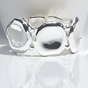 polished textured stretch bracelet