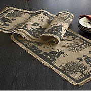 Haunted House Printed Burlap Runner