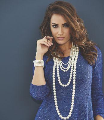 Multistrand Faux-Pearl Necklace/Earring Set with Bonus Bracelet