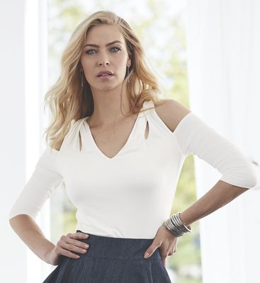 Parissa Cold-Shoulder Top