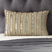 Metallic Beaded Pillow