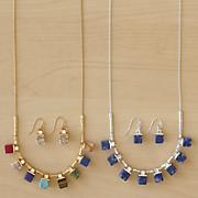 Gemstone Necklace/Earring Set
